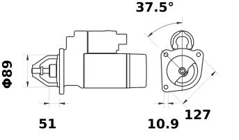 Стартер AZF4524 (IS0941) - схема