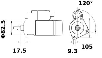 Стартер AZE2140 (IS0980) - схема