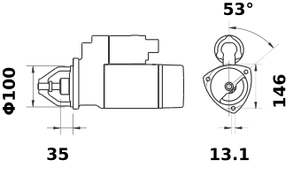 Стартер AZJ3353 (IS1002) - схема