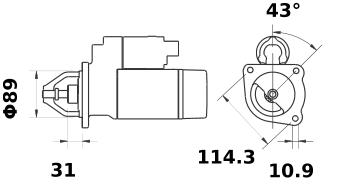 Стартер AZE1220 (IS1011) - схема