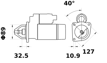 Стартер AZF4545 (IS1023) - схема