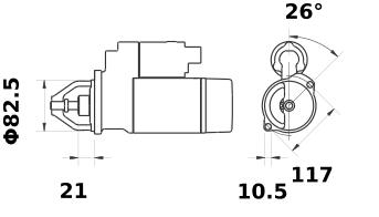 Стартер AZE2113 (IS1024) - схема