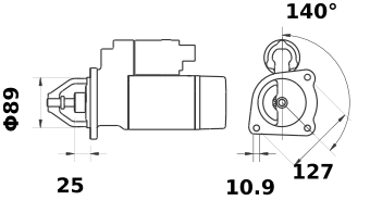 Стартер AZJ3375 (IS1029) - схема
