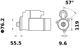 Стартер AZE2625 (IS1042) - схема
