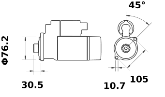 Стартер AZE2641 (IS1062) - схема