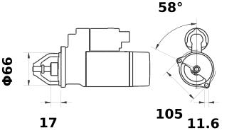 Стартер AZE1230 (IS1066) - схема