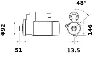 Стартер AZF4691 (11.131.839) - схема