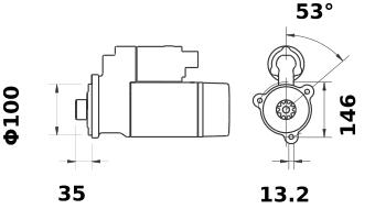 Стартер AZF4617 (IS1081) - схема