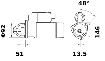 Стартер AZF4577 (IS1089) - схема