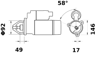Стартер AZF4554 (IS1102) - схема