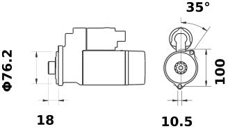 Стартер AZE2666 (IS1104) - схема