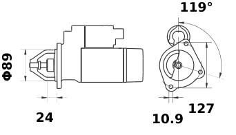 Стартер AZF4224 (11.131.848) - схема