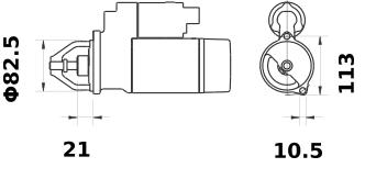 Стартер AZE2165 (IS1121) - схема