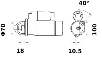 Стартер AZE1236 (IS1138) - схема
