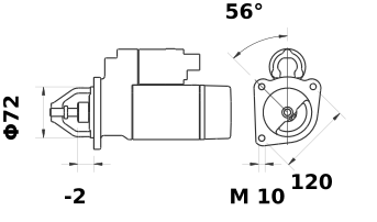 Стартер AZE6559 (IS1145) - схема