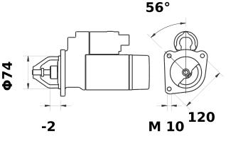 Стартер AZE6558 (IS1146) - схема