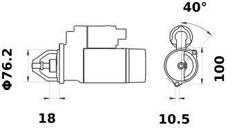 Стартер AZE1235 (IS1156) - схема