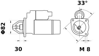 Стартер AZE6528 (IS1176) - схема