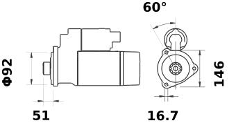 Стартер AZG4688 (IS1182) - схема