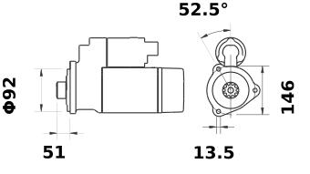 Стартер AZG4692 (IS1190) - схема