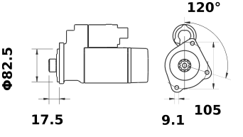 Стартер AZE2652 (IS1192) - схема
