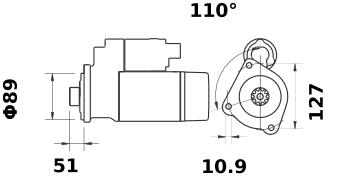 Стартер AZG4657 (IS1209) - схема