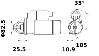 Стартер AZE6555 (IS1217) - схема