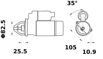Стартер AZE6556 (IS1231) - схема