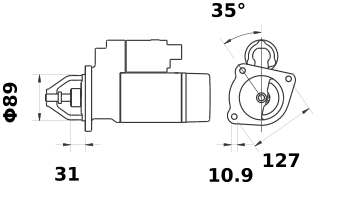 Стартер AZF4239 (IS1261) - схема