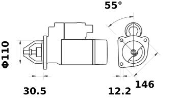 Стартер AZE6531 (IS1263) - схема