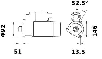 Стартер AZG4676 (IS1271) - схема