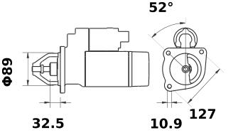 Стартер AZJ3447 (IS1273) - схема