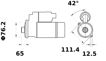 Стартер AZE2668 (IS1285) - схема