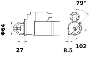 Стартер AZD2125 (IS1286) - схема