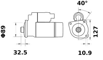 Стартер AZF4839 (IS1294) - схема