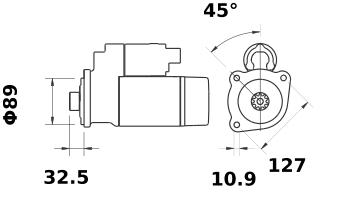 Стартер AZF4838 (IS1295) - схема