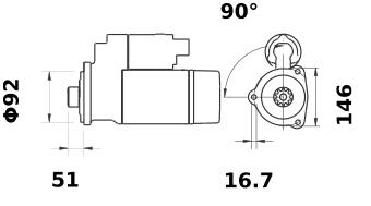 Стартер AZG4695 (IS1307) - схема