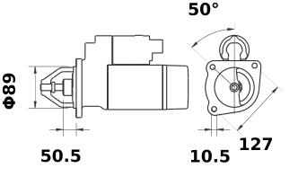 Стартер AZE4193 (MS 41, 11.131.916, IMS301916) - схема