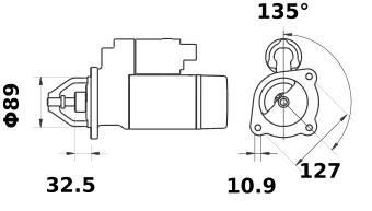 Стартер AZE4233 (IS1348) - схема