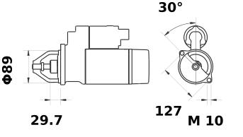Стартер AZE2236 (11.132.111, IMS302111) - схема