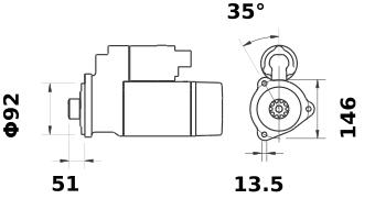 Стартер AZG4827 (IS1355) - схема