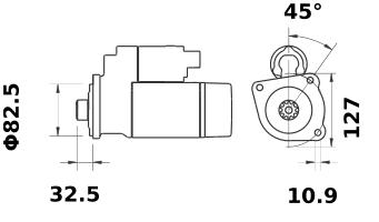 Стартер AZE4674 (IS1362) - схема