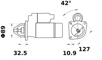 Стартер AZE4244 (IS1378) - схема