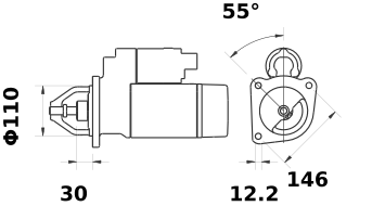 Стартер AZE4242 (IS1387) - схема