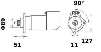 Стартер AZK5163 (IS9003) - схема