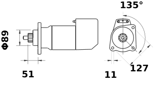 Стартер AZK5170 (IS9010) - схема