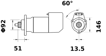 Стартер AZK5172 (IS9012) - схема