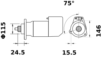 Стартер AZK5180 (IS9021) - схема