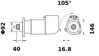 Стартер AZK5181 (MS 472, 11.139.022, IMS309022) - схема