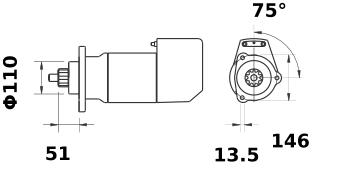 Стартер AZK5184 (IS9025) - схема